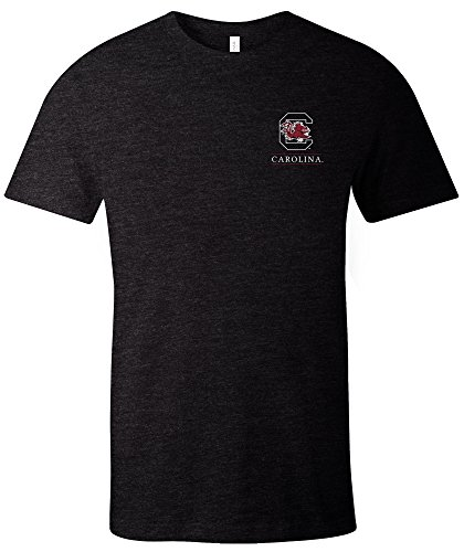 South Carolina Damen T-shirt (Image One NCAA South Carolina Fighting Gamecocks T-Shirt für Erwachsene, kurzärmlig, Trimix, Größe XL, Schwarz)