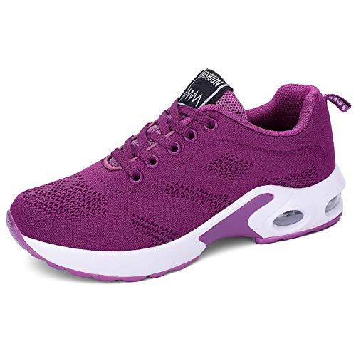 Lanchengjieneng Moda para Mujer Entrenador de Running de Aire Transpirable Jogging Fitness Sneakers...