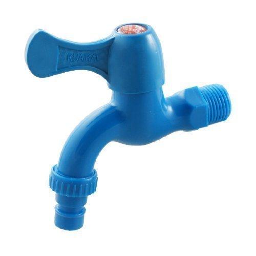 sourcingmap® Rubinetto dell'acqua in plastica blu Columbia per cucina,casa e giardino