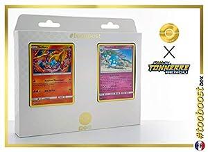 Sulfura (Moltres) 38/214 Y Azuramill 136/214 - #tooboost X Soleil & Lune 8 Tonnerre Perdu - Box de 10 Cartas Pokémon Francés + 1 Goodie Pokémon