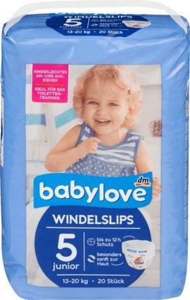 babylove Pants Windelslips Größe 5, junior 13-20kg, 20 St