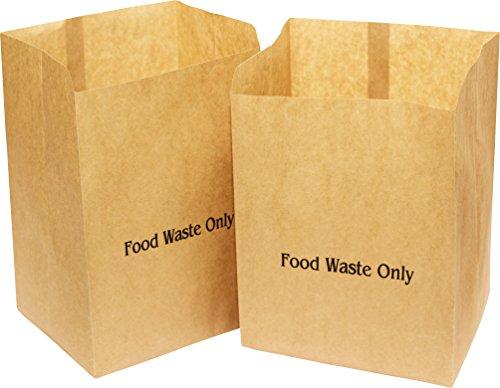 Alina Kompostierbare Papier-Müllbeutel für Lebensmittel, Biomüll, biologisch abbaubar, braun, 10Liter, mit Alina-Kompostieranleitung (evtl. nicht in deutscher Sprache), 150 bags
