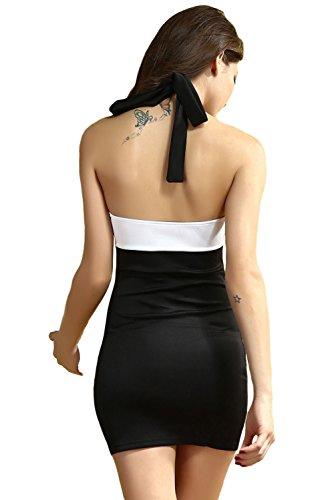 Dissa® femme Blanc Noir SY2863 robe de cocktail Blanc Noir