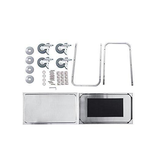 Loutoff ykf l3 carrello portavivande in acciaio inox con for Prezzo acciaio inox al kg
