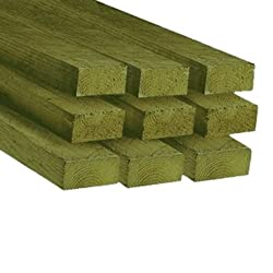 4 X 2 Timber (47 X 100mm) C16 Sawn Treated Timber 3.0 m Pack of 6