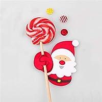 Toporchid 50pcs Santa Claus Lollipop Christmas Card Holder lolly sugar-loaf Xmas Party Toys