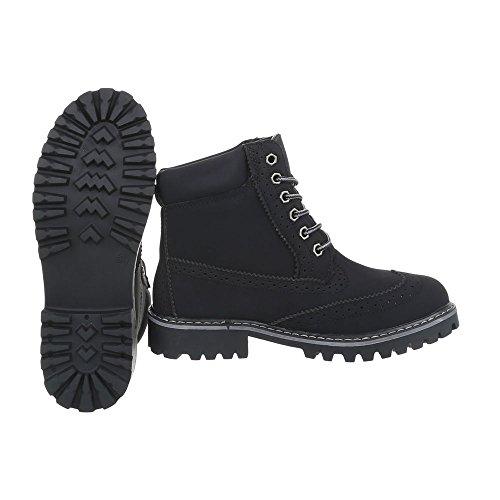 Et Bottines Design Noir H925 Lacet Ital A Bottes Femme Chaussures fwaZRqx6w