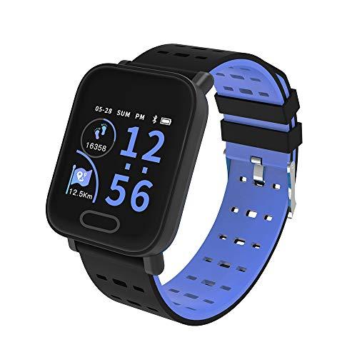 Mode Fitness Tracker | Wasserdicht Smartwatch mit Sauerstoff Blutdruck- und Herzfrequenzmonitor, Aktivitäts Schrittzähler| KY109 | Fitness Uhr für Android und IOS Smartphone | Damen Herren