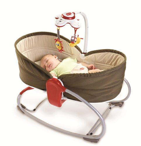 Tiny Love 22218003 3 in 1 Rocker Napper Brown Beige Sdraietta, Marrone