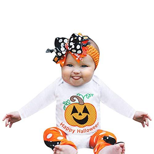 TEBAISE Neugeborene Kleidung Babykleidung Kleinkind Baby Junge Mädchen Kleider Set Tops + Hosen Outfits Weich Baby Strampler Mädchen Beiläufig Oktoberfest Christmas Weihnachten Cosplay ()