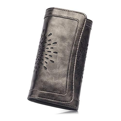 APHISONUK Portafogli in pelle morbida per donna Portafogli RFID Portafogli  donna Porta carte di credito Portafogli 504a27c0308