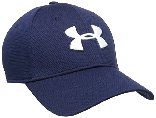 Under Armour Blitzing Ii, Curved Brim Cap Men's, Midnight Navy, M-L