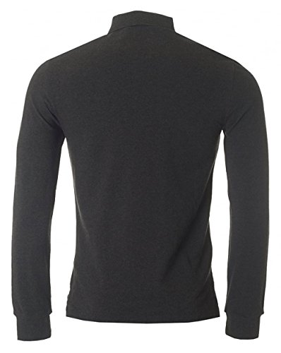 Polo Ralph Lauren Long Sleeved Slim Fit Mesh Polo Charcoal
