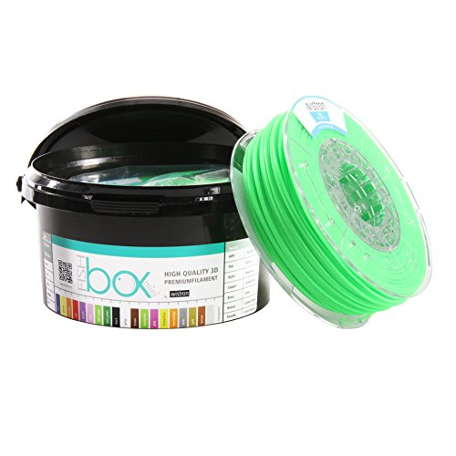 Avistron mini 500gr PLA 1.75mm 3D Drucker Filament Minirollen verschiedene Farben innovative Verpackung (Hellgrün)