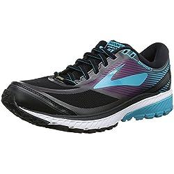 Brooks Ghost 10 GTX, Zapatillas de Running para Mujer, Negro (Blackpeacockbluehollyhock 1b089), 39 EU