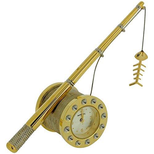 Miniature goldtone Canna da pesca-Orologio Analogico collezionisti imp1039g
