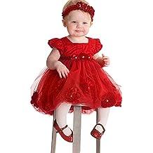 Conjunto Navidad Niña de 6-24 Meses,Conjunto de Niña pequeño Vestido de Gasa