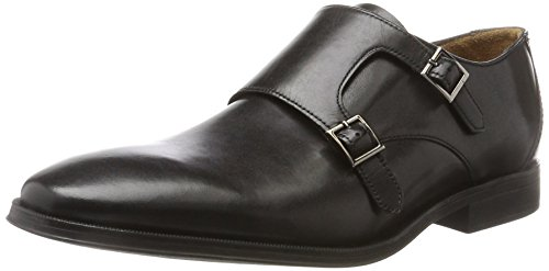 Clarks Gilman Step, Mocasines para Hombre, Negro Black Leather, 42.5 EU