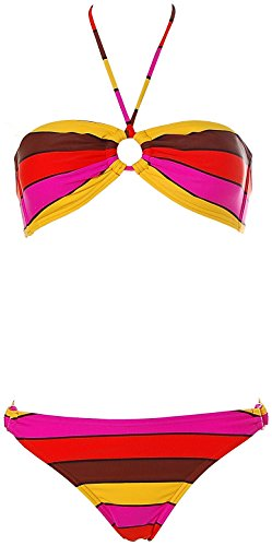 ROXY® Neckholder Bandeau Bikini Coffee L (Neckholder-bikini Roxy)