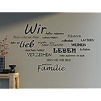 Wandtattoo Spruch WIR Familie Wandaufkleber Wohnzimmer Sprüche 100x63cm  B388 (schwarz)