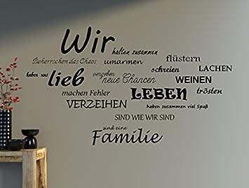 Wandtattoo Spruch WIR Familie Wandaufkleber Wohnzimmer Sprüche ...