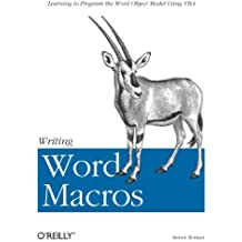 Writing Word Macros: An Introduction to Programming Word using VBA