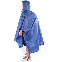 Floratek 3in 1multifunzione impermeabile esterna impermeabile zaino copertura tappetino tenda baldacchino poncho antipioggia per arrampicata/trekking/ciclismo/viaggi, Blue