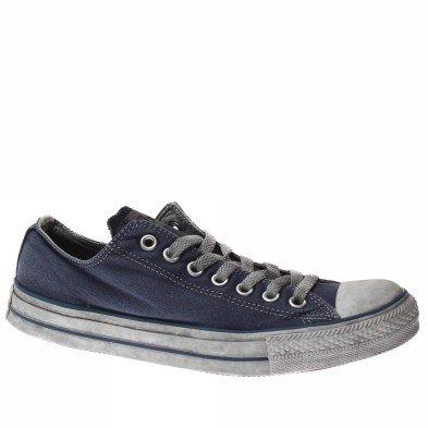 Converse All Star Ox Canvas Ltd 1c359 Homme Chaussures Bleu Fonc