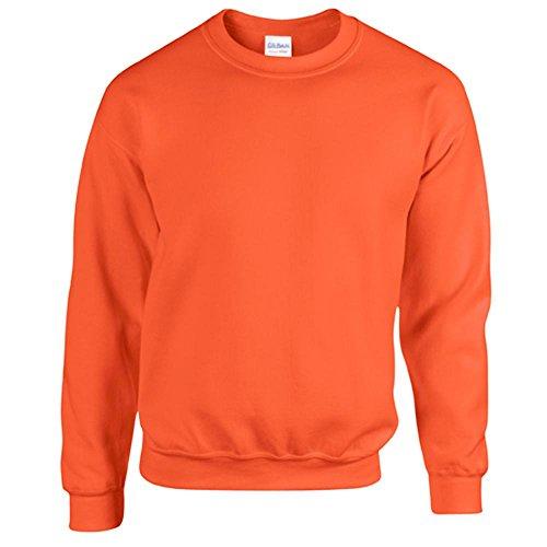 Gildan Heavy Blend Erwachsenen Crewneck Sweatshirt 18000 L, Orange (Blend Crewneck Pullover)