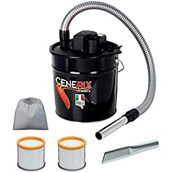 Cendres électrique cenerix 800W-18L avec double filtre et lance plate