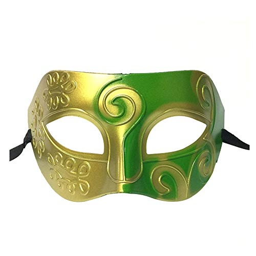 7 Kostüm 9 Von - Daliuing Herren Halloweenmaske, Vintage, halbes Gesicht, Kunststoff, Festival, Karneval, Kostüm, Party 16 * 9cm #7