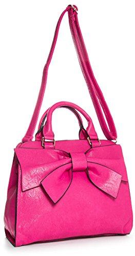 Big Handbag Shop , Damen Satchel-Tasche One violett