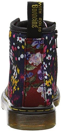 Dr. Martens Brooklee Fc, Bottes Mixte Enfant Multicolore  (Dark Red/indigo T Canvas)