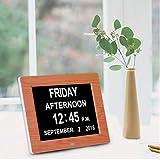 junkai 8 Pollici Orologio Calendario Digitale Orologio Sveglia Digitale Extra Large Cornice Digitale Schermo LCD, per Bambini, Anziani e Pazienti Affetti da Demenza Senile
