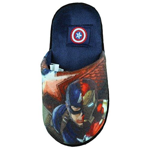 Pantoffel Avengers Captain America Junge Marineblau