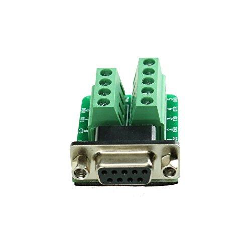 VIKINS connettore DB25/DB15/DB9D-SUB Femalle/Maschio Porta 15Pin/9/25pin 2Row Terminale Breakout PCB Board DB 9 Female