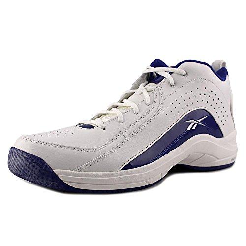 Reebok Jump Ball Mid Cuir Baskets FL White-Royal