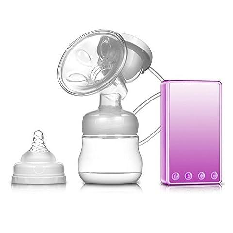 JOYORUN Elektrische Milchpumpe Wiederaufladbarer Lithium-Akku und USB-Ladegerät Hohe Temperatur Rosa Transparent 150ml