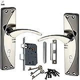 ATOM Legend-2 Mortise Lock with 1003 Black Silver Handle Set