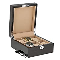 Superior Finish Macassar Wood Watch Collector Box for 6 watches by Aevitas