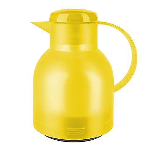 Emsa 508950 Samba Quick Press closure vacuum jug, 1.0 litres, translucent yellow