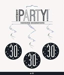 Unique Party- Adornos, Color black & silver (83785)