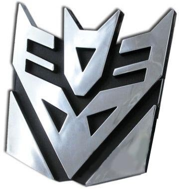 Transformers Decepticons Logo 3D Car Hood Ornament / Decal by HK4U (Decepticon Logo)