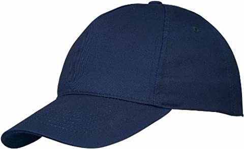 US BASIC 5 PANEL BASEBALL CAP HAT - 10 COLOURS, Navy, Fits up to 58cm