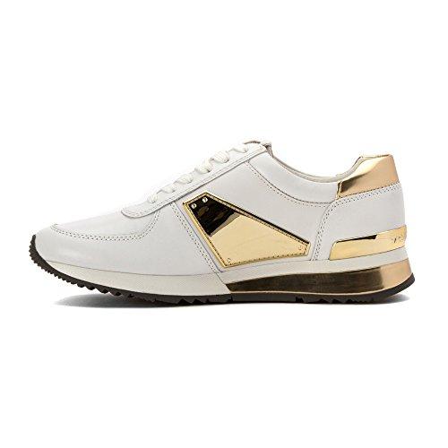 Michael Kors Damenschuhe Turnschuhe Damen Leder Schuhe Sneakers allie Weiß Weiß