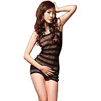 Sexy Petite fishnet mini dress body stocking – very sexy quality black classic mini dress bodystocking, two style mesh fishnet, shoulder straps, fits UK4- UK14