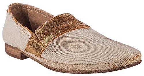 Charme Slipper (Charme Damen Slipper Textil Beige/Gold (36 EU))