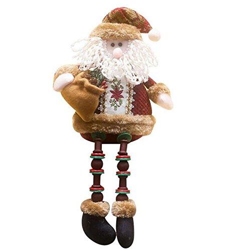 Genven decorazioni di natale babbo natale seduto in porcellana bambola pupazzo di natale ornamento 32 * 13cm santa claus