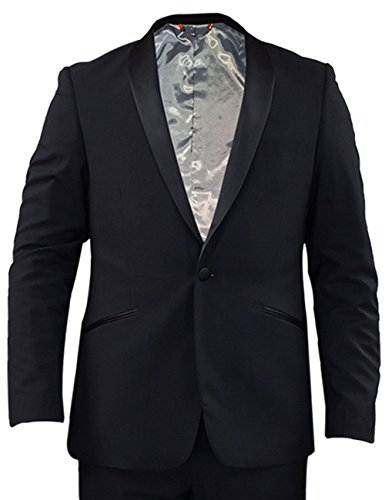 Ex-Branded Mens Formal Stretchable Slim Fit Tuxedo Suit Jacket Blazer Trousers Party Dress