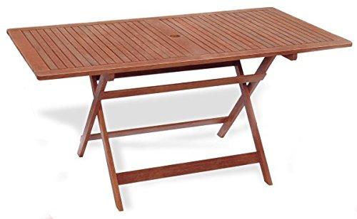 Table rectangulaire pliante 100 x 70 x 72 Table de jardin mod.Chèvrefeuille en bois de keruing à transformation artisanale, table de bois usage extérieur, table en Keruing, table pliante de jardin.